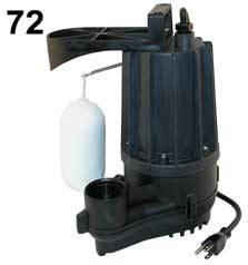 Zoeller Aqua Mate Model 72 - .3 HP - 115 Volt Sump Pump