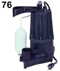 Zoeller Aqua Mate Model 76 - 1/2 HP - 115 Volts Sump Pump