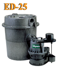Myers ED25 - 1/4 HP Sink Pump System
