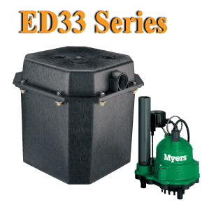 Myers ED33 Series - 1/3 HP Sink Pump System