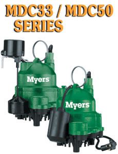 Myers MDC Series -Cast Iron Submersible Sump Pumps