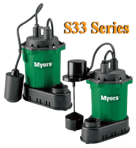 Myers S33 Series - 1/3 HP Residential Sump Pumps