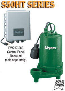 Myers S50HT Series -High Capacity Submersible Pump
