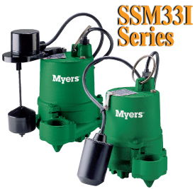 Myers SSM33I Series-1/3HP Cast Iron Submersible Pump