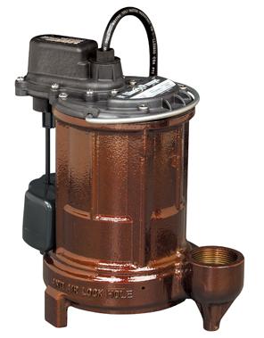 Liberty 250 Series 1/3 hp Cast Iron Sump Pump