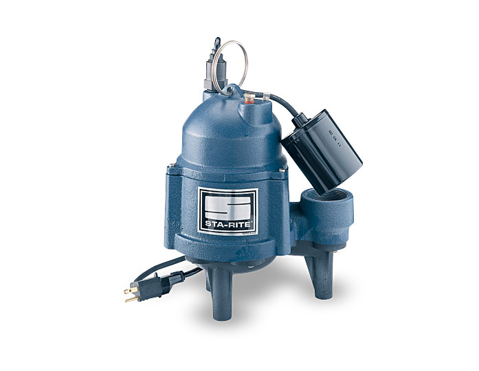 Sta-Rite Sewage Pumps, Cast Iron, 4/10 HP, 115V, 2