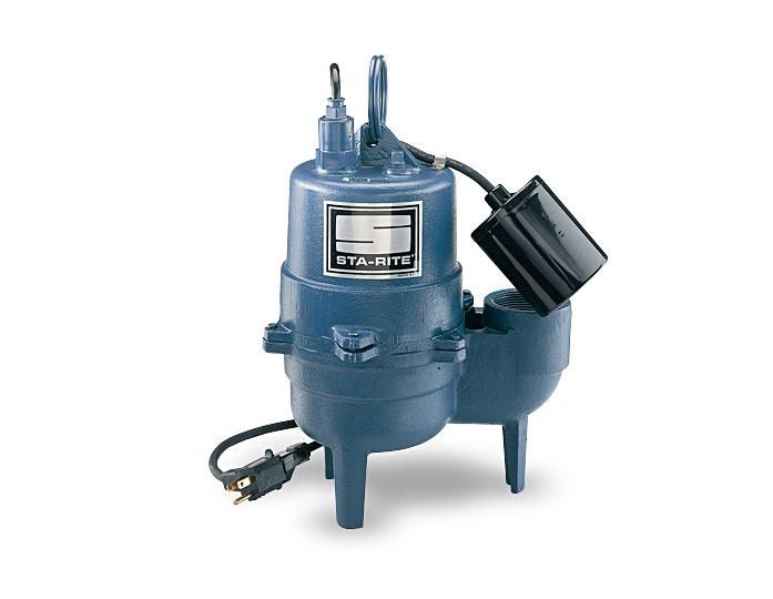 Sta-Rite Sewage Pumps, Cast Iron, 1/2 HP, 115V, 2