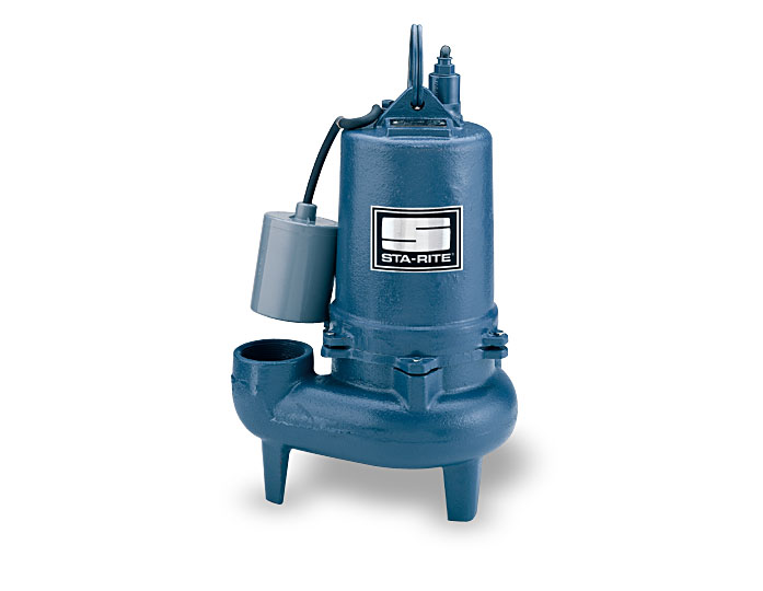 Sta-Rite Continuous Duty Sewage Pumps, Cast Iron, 1/2 HP, 1