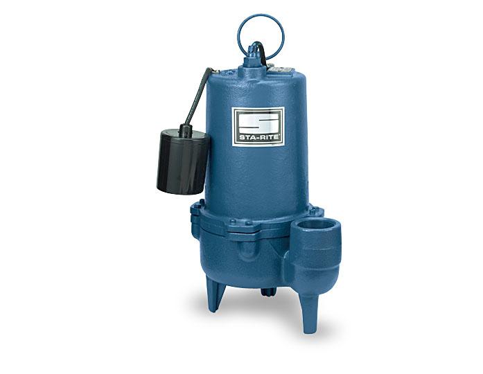 Sta-Rite Sewage Pump, Cast Iron, 1/2 HP or 3/4 HP, 2
