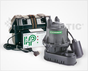 Hydromatic Battery Backup Sump Pump Systems