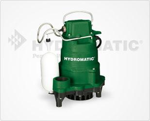 Hydromatic 1/3 HP High-Temperature Cast Iron Sump Pumps