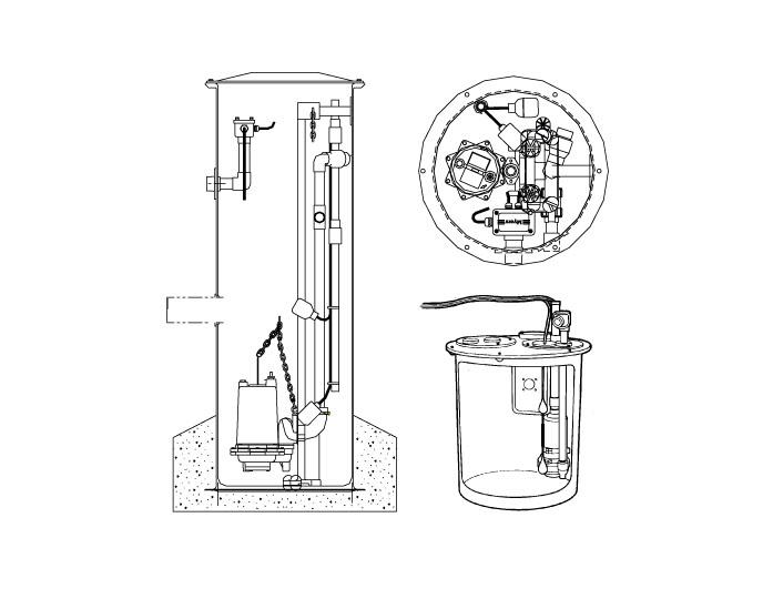 Mrg20 Myers Mrg20 Single Seal Grinder Pump System