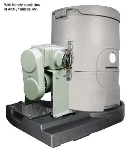 Lutz-Jesco Calcium Hypochlorite Briquette Feeder